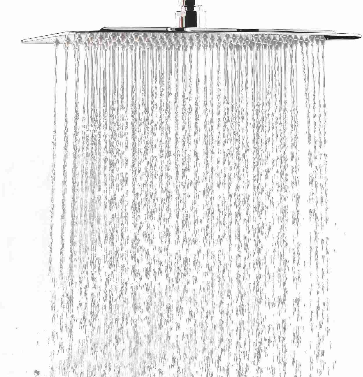 Derpras Square Rain Shower Head 304 Stainless Steel Ultra Thin Powerful High...