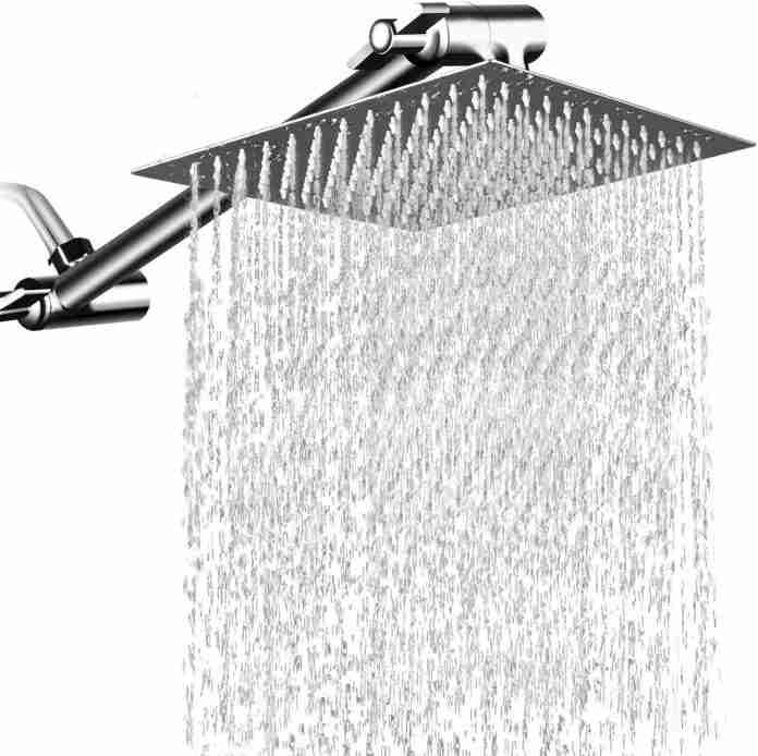 MeSun 12 Inch High Pressure Showerhead with Arm